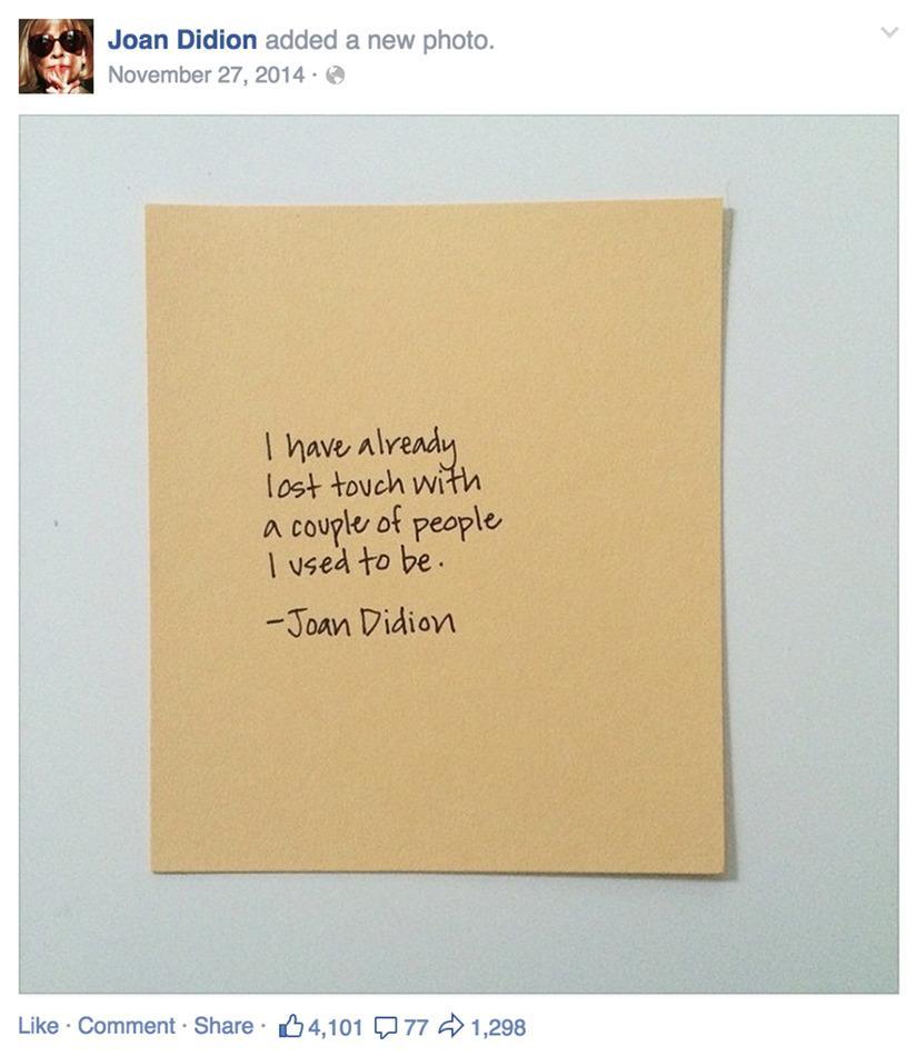 Free Joan Didion http://t.co/nTIuc5AdUj http://t.co/9fCzsl39f2