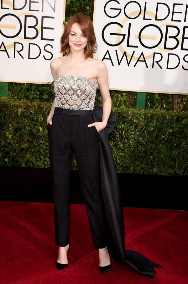 Still can't get over how good Emma Stone looked at the #GoldenGlobes. She owned the red carpet! http://t.co/RFbbZ5mtTU