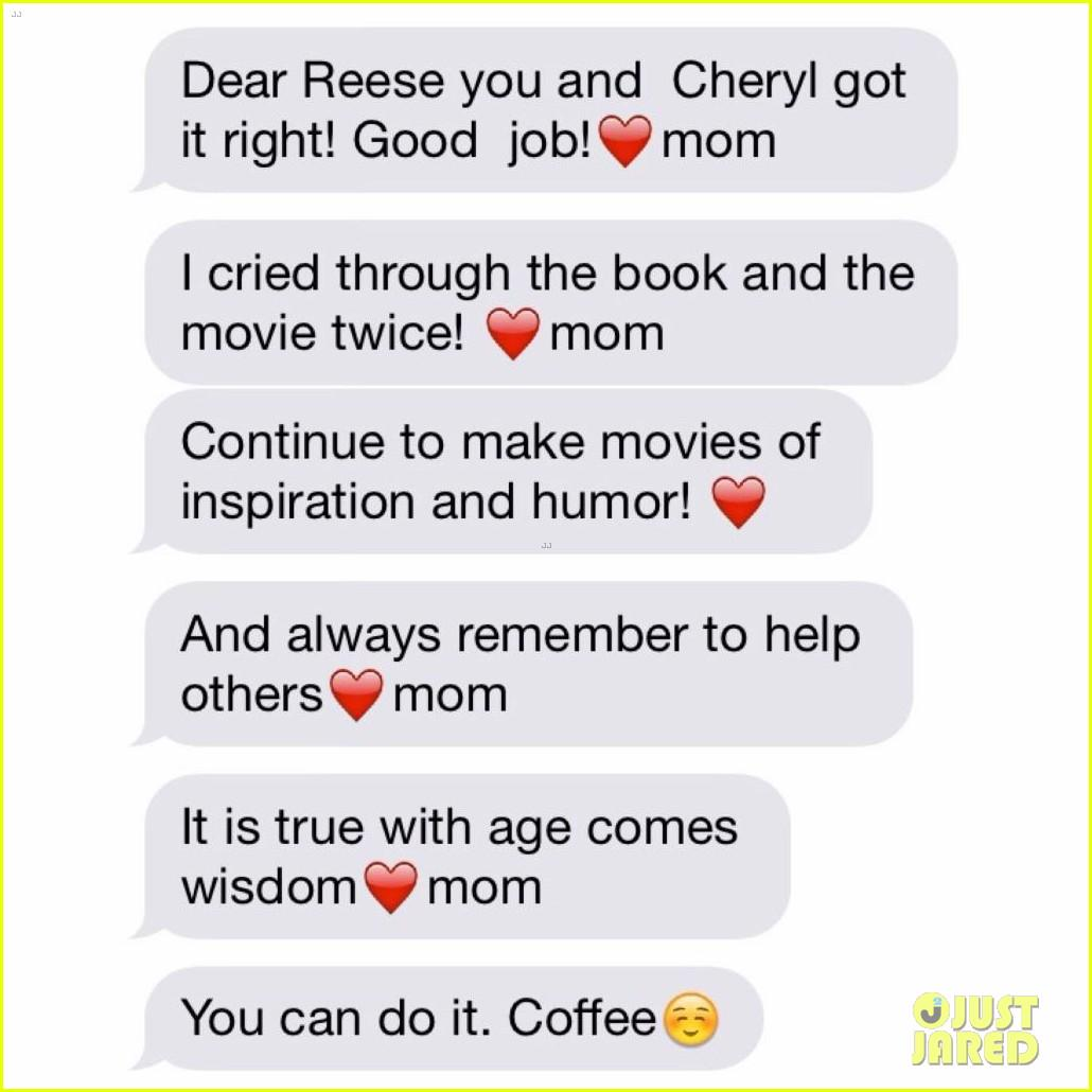 Reese witherspoon shared a cute text exchange with her mom during ...