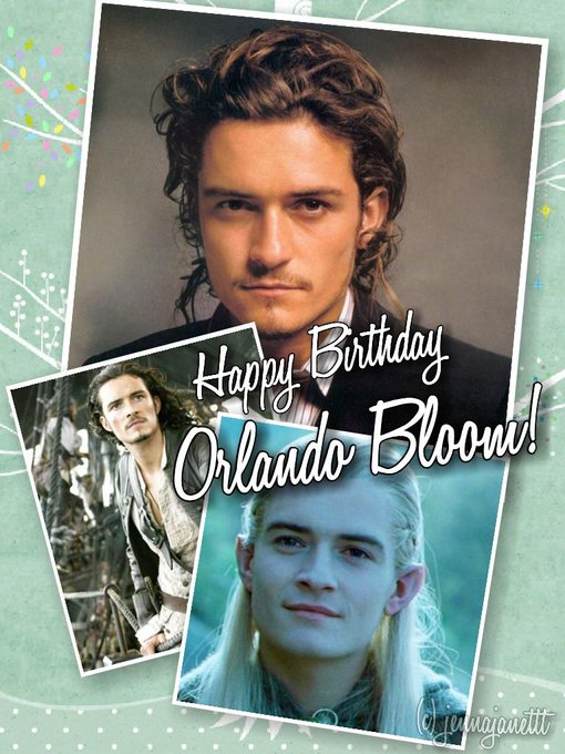 Happy 38th Birthday to one of my favorite actors, Orlando Bloom!