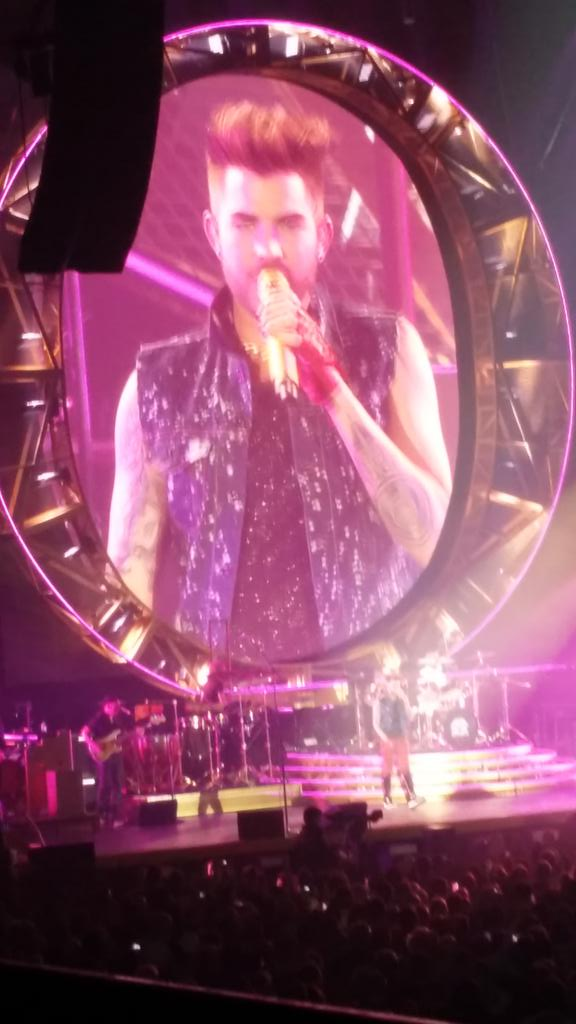 Queen were amazing what a voice adam lambert has @ArenaNewcastle http://t.co/R4mqEHNDvD