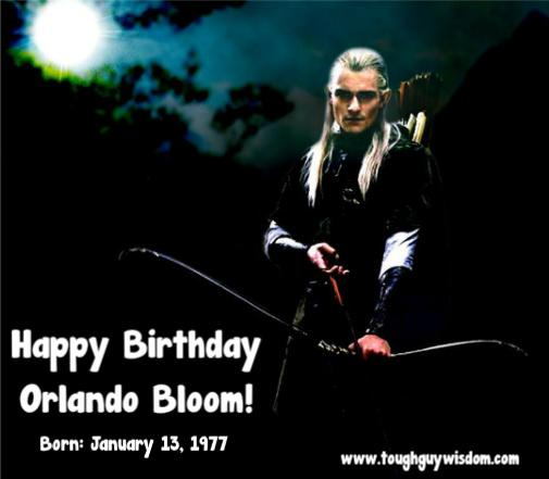 Happy Birthday Orlando Bloom, the baddest elf around.