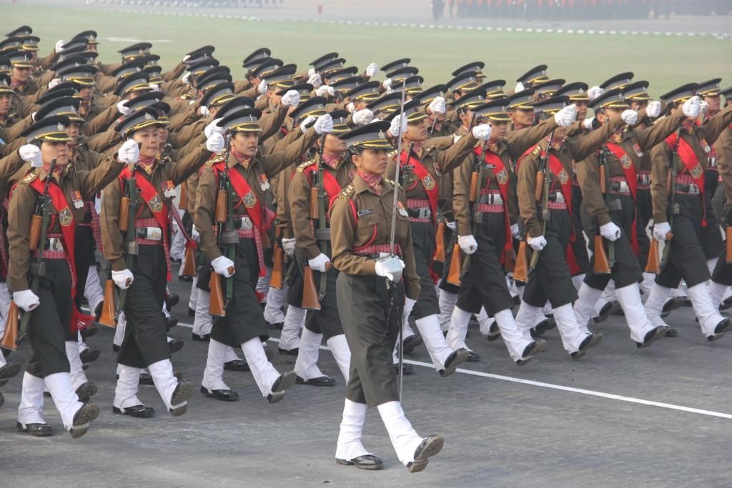 The All women marching contingent of the Army which will take part in the Republic Day parade. https://t.co/QCJB4gc8NN