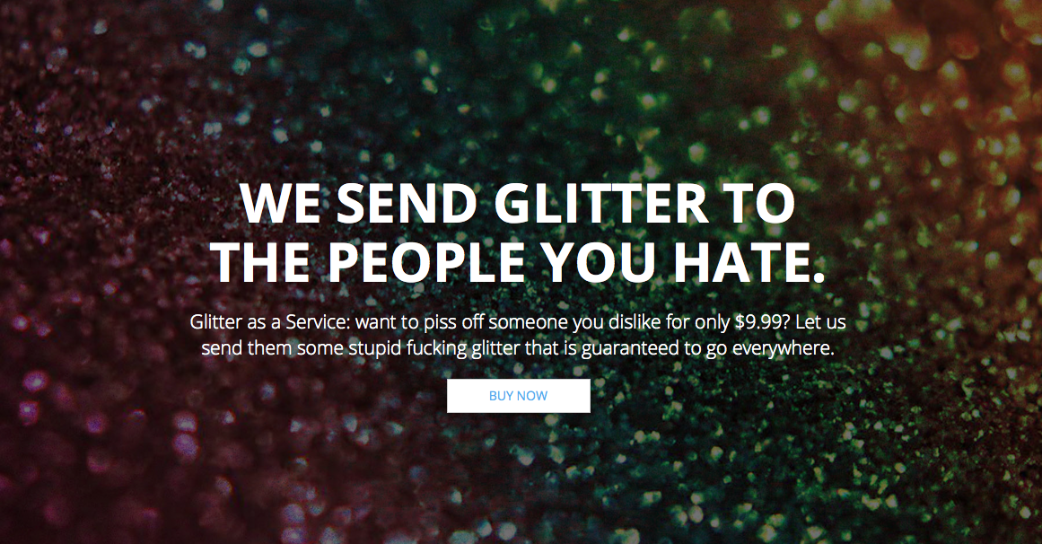 Send Glitter to People You Hate—how @producthunt birthed the ultimate troll gift http://t.co/gg7gSMJvyf @nancefinance http://t.co/M8GshjFA6w