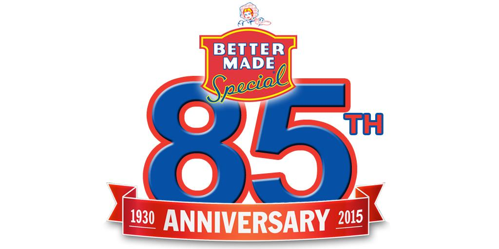 Celebrating 85 Years in Michigan #BetterMade http://t.co/Or6qhqv2cL