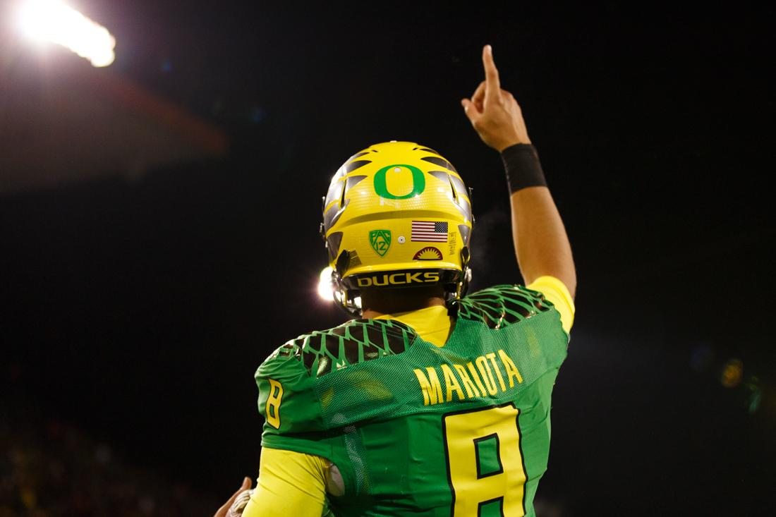 After a historic season, Mariota has declared he will enter the NFL draft. #MahaloMarcus Photo credit: @DailyEmerald http://t.co/tsYxEhddwU