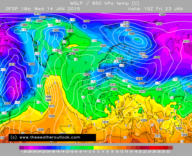 By Fri 23/01 it turns even colder as the Beast From The East arrives http://t.co/7ay9cjgRfy http://t.co/LkRa3lzyJZ