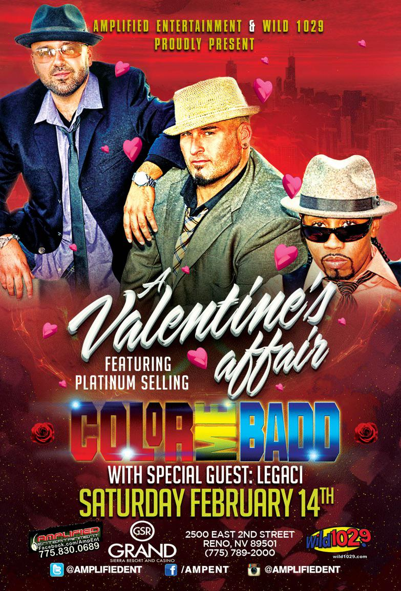 Hey everyone! We will be sharing the stage with the iconic group COLOR ME BADD on 2/14 in Reno! @amplifiedent http://t.co/1y16QWV1gP