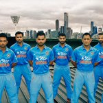 RT @AravindShiv: #Bleedblue Nike launches Indian cricket team kit in Melbourne!!! @MSLGROUP_India @nikecricket http://t.co/7xnxP0HXtT