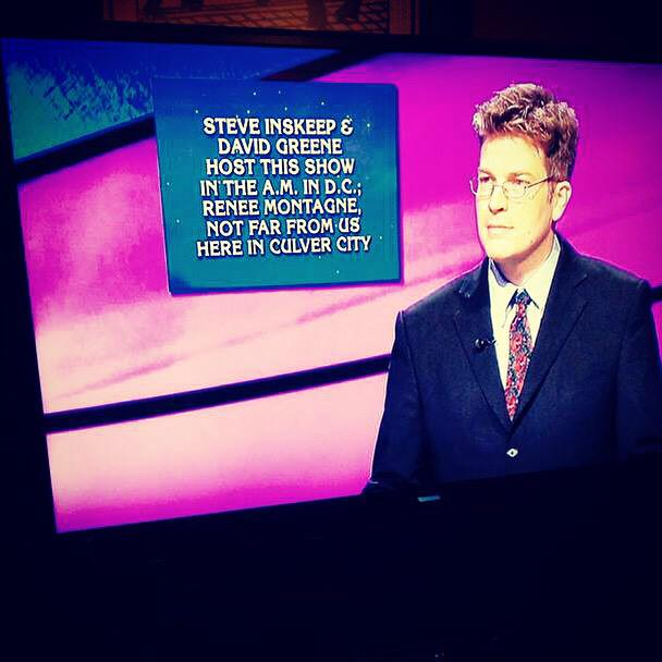 This game show just gave a shout-out to @MorningEdition. What's @Jeopardy? @nprmontagne @NPRinskeep #honored! http://t.co/ETpZen2cEr