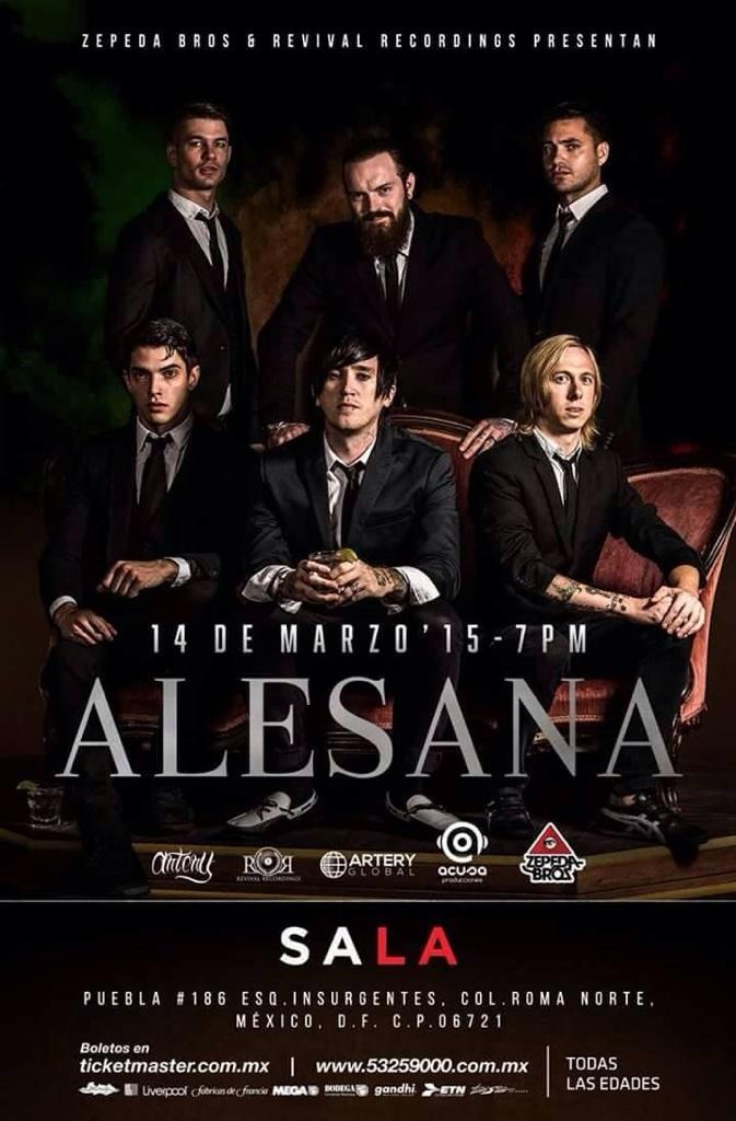 ALESANA REGRESA A MÉXICO ESTE 14 DE MARZO  #AlesanaEnMéxico2015 http://t.co/AsmeUjC6Me