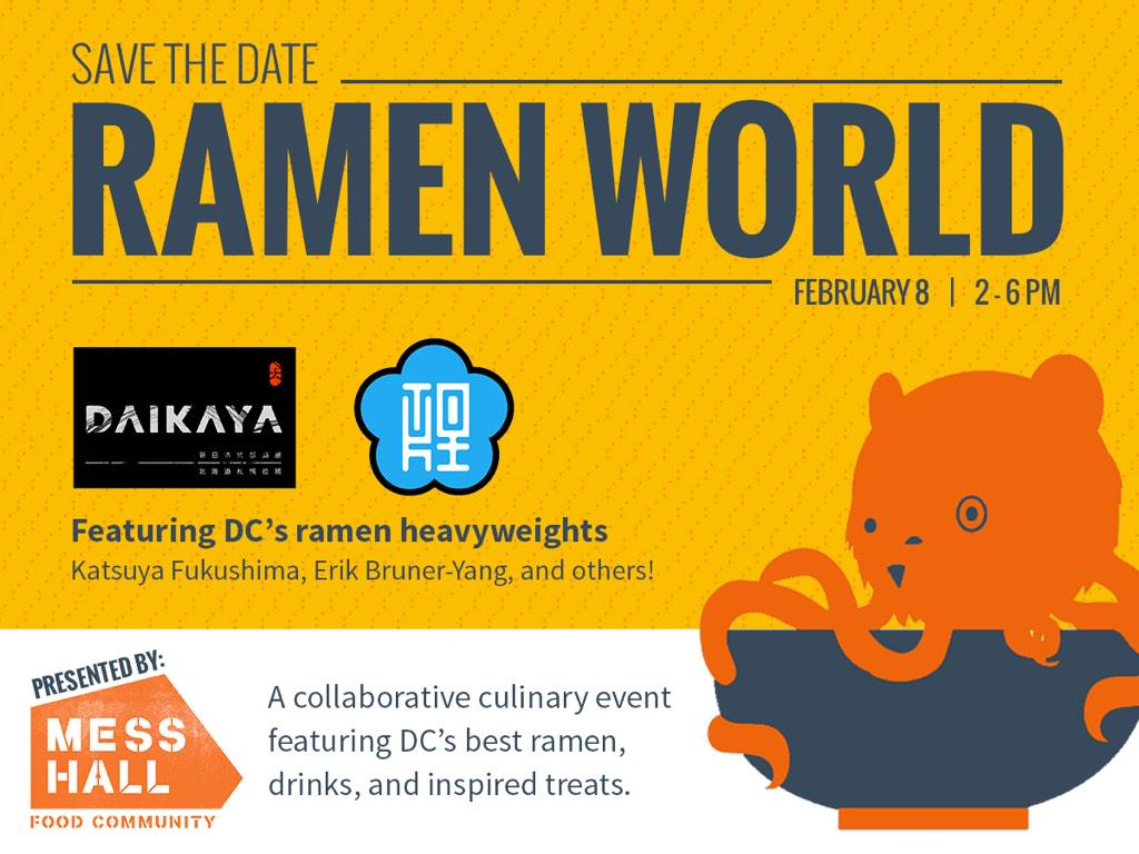UPCOMING EVENT ALERT! We've joined forces with @TokiUnderground & @Daikayadc to bring you #RamenWorld. Get excited. http://t.co/SFVKOML5Vy