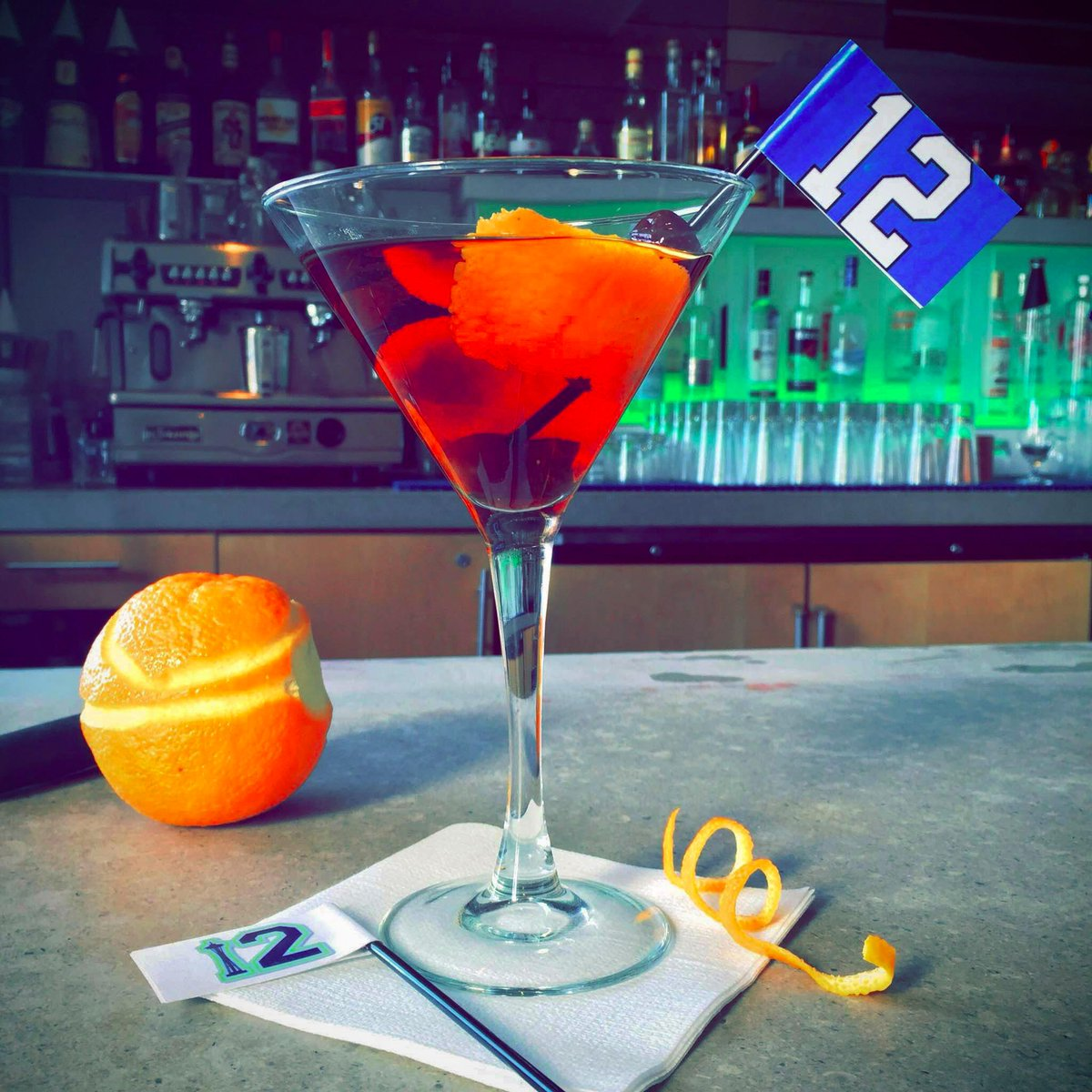 Too early to talk cocktails? This 12th MANhattan @ARTRestaurant looks so dang cute, right? #GoHawks http://t.co/RK52jyfD8b