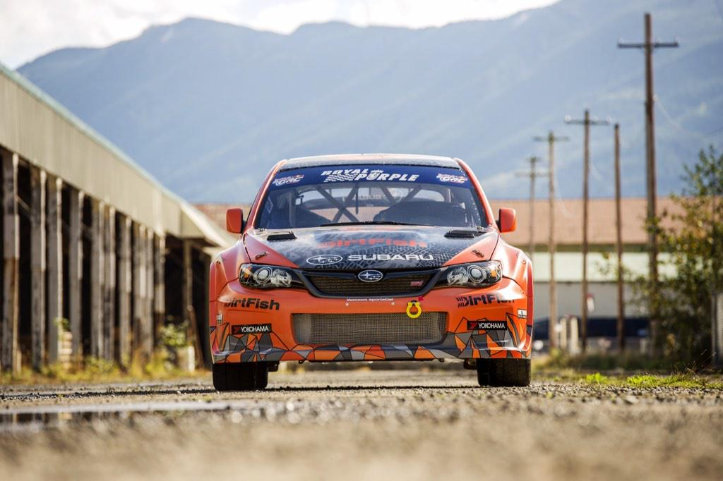 #TBT to when @Davidhiggins75 drove the DirtFish @srtusa STi in the Seattle leg of the @RedBullGRC in September. http://t.co/D7h9Pywq9r