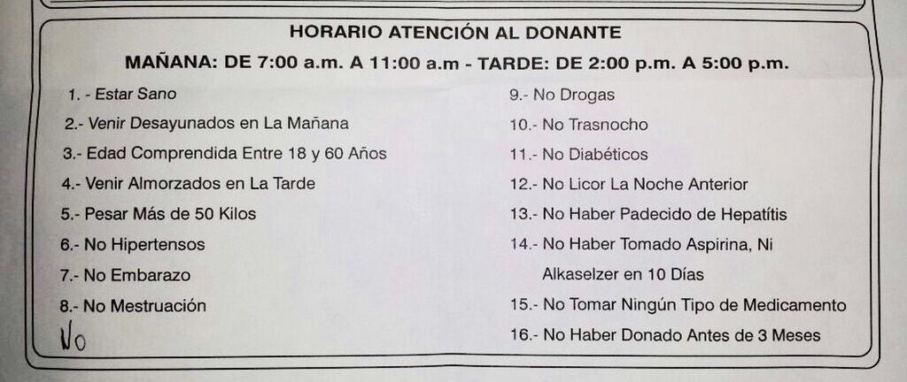 Se necesitan donantes de sangre para Regulo Luyando: piso 2, Policlínica La Viña. Favor difundir http://t.co/dfFlFLPC7A @luisluyando