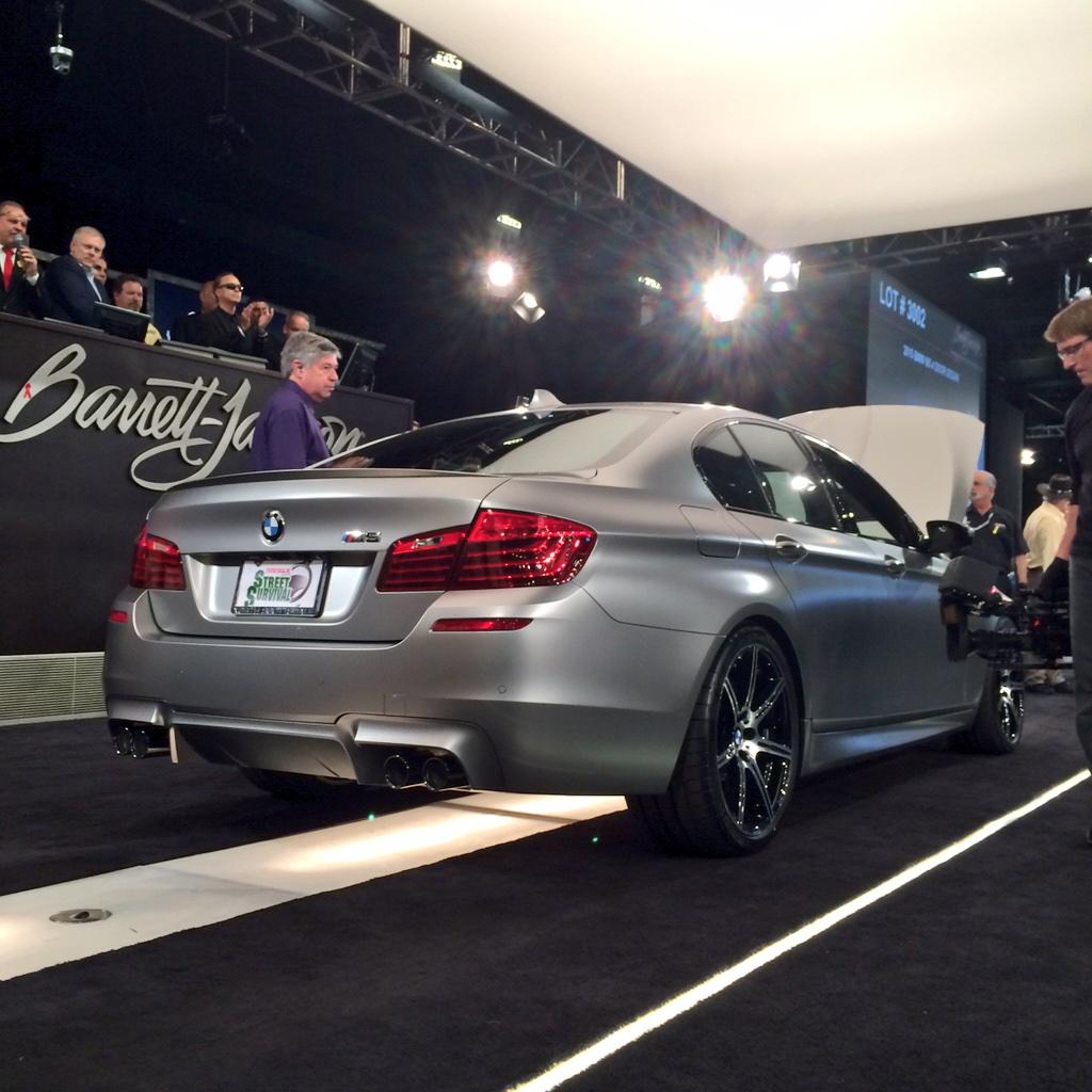"Very special 30th ""Jahre"" Anniv. Ed. 2015 M5 is SOLD! A great #BarrettJackson Moment: $700k goes to @BMWCCA! http://t.co/X5WpzvPF9L"