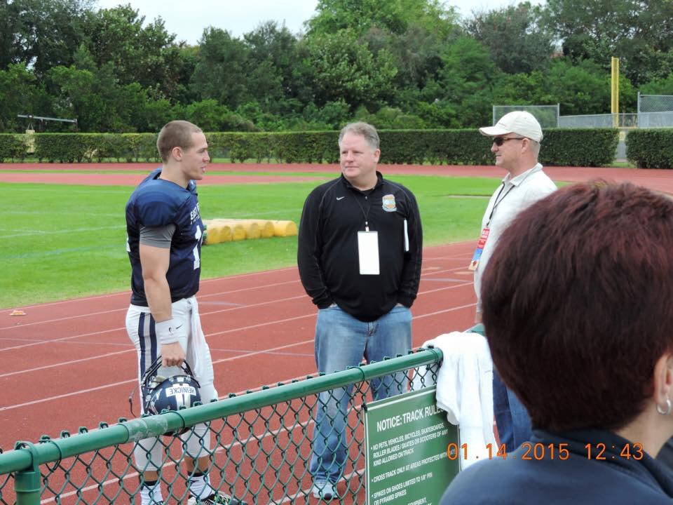 Chip Kelly #Eagles head coach meeting with Taylor Heinicke of Old Dominion http://t.co/ZNLvLIwr15