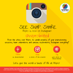 Wipro now on Instagram.Be it candid pictures,celebrations or team meetings, click the moments and share @instagram