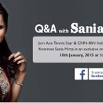 RT @cnnibn_ioty: Join CNN-IBN #IndianoftheYear nominee @MirzaSania in a LIVE Q&A on Jan 18 @ 1:00 PM http://t.co/Jyx8asC4Qq