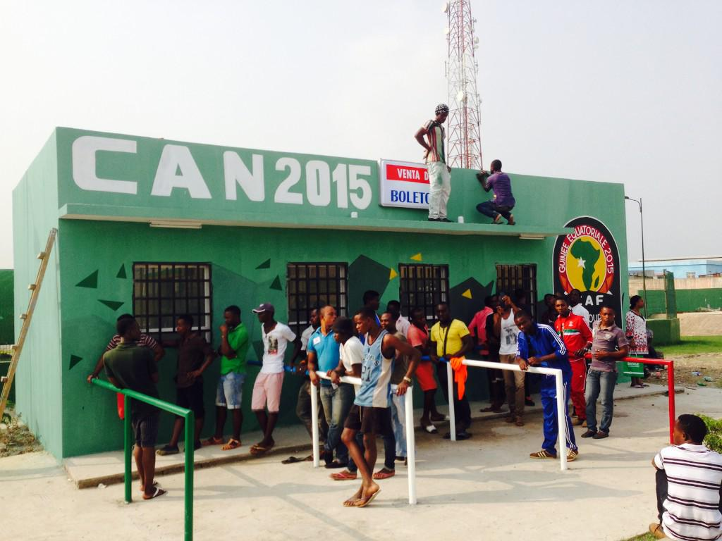 Would you like a ticket for the opening day? #AFCON2015 #CAN2015 #EquatorialGuinea Bata stadium this morning http://t.co/8GQv9jlzQd