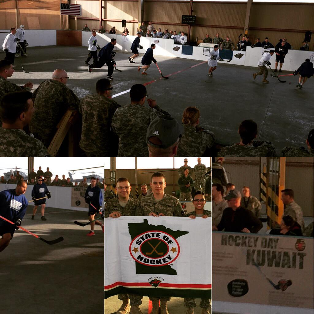 Coolest hockey game ever, happening now in Kuwait. #HDM2015 http://t.co/jZ7yph8UP4