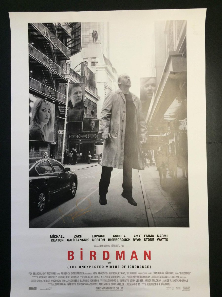 To be in with a chance of winning this #Birdman poster signed by Michael Keaton himself, retweet this tweet! http://t.co/CgOWzCIMpg