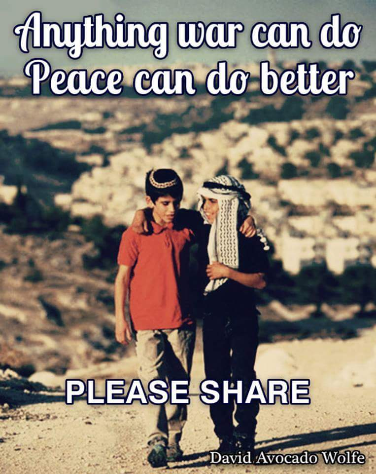 Anything war can do, peace can do better. http://t.co/MRPhfMxk7Y