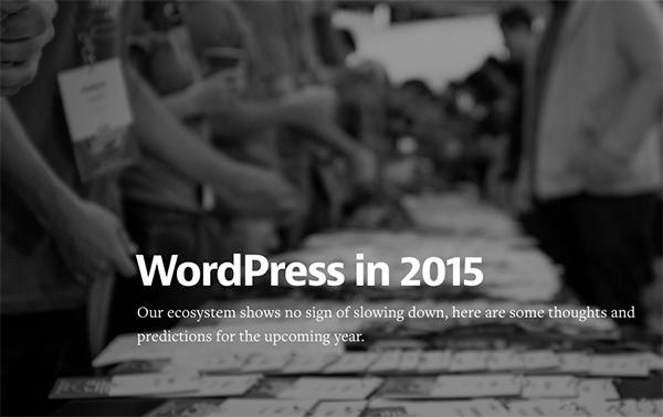 In case you missed it... WordPress in 2015 https://t.co/JQcaSI6i2D http://t.co/NPfSRnSUk4