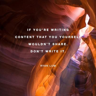 Only write great content.   #marketing #content #socialmedia http://t.co/C65mRcvnKK