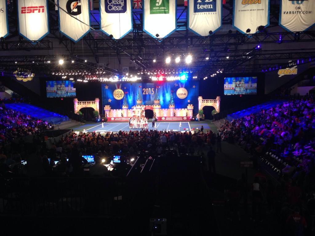 Over 200 collegiate cheerleading & dance teams are at #ESPNWWOS competing in the #UCAnationals & #UDAnationals! http://t.co/Hsv3Djc06s