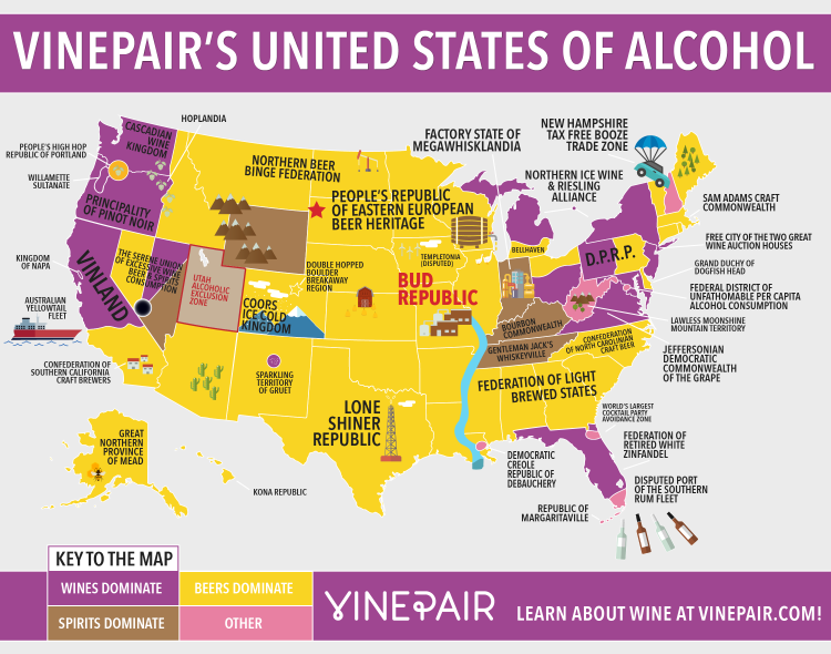"A geographical breakdown of America's #booze habits. #Nola is deemed the ""Democratic Creole Republic of Debauchery."" http://t.co/RgmwyqB34L"