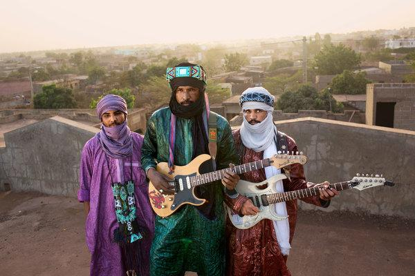 Jamming to Tuareg music at the Festival on the Niger in Mali. (Ben C. Solomon for NYT)