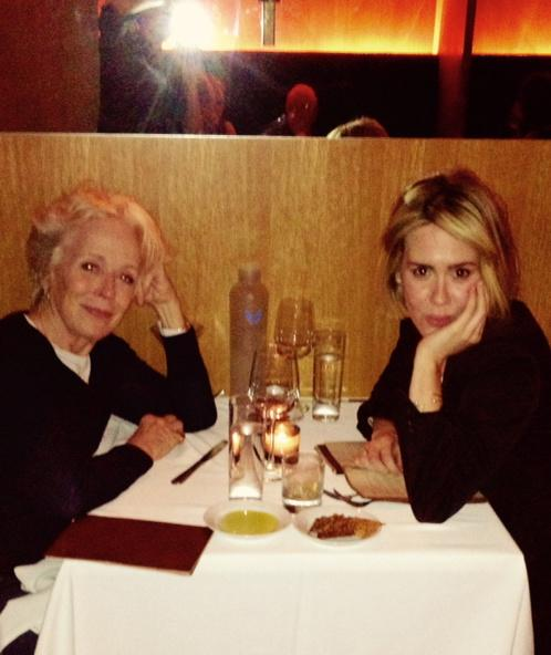 We are so up to no good. @MsSarahPaulson http://t.co/24PRPuj1xj