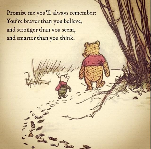 in honour of aa milne s birthday my favourite winnie the pooh quote tho actually christopher