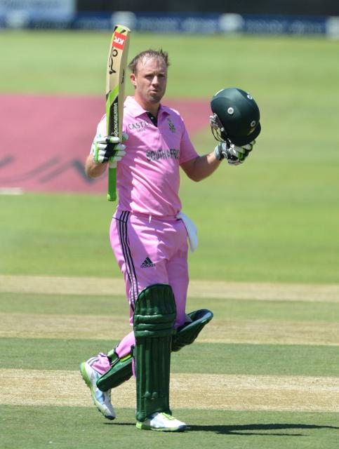 .@ABdeVilliers17 you BISCUIT! He brings up the fastest ODI ton in 31 balls! Take a bow! No words! #PinkDay18Jan http://t.co/gEMYVZnxFd