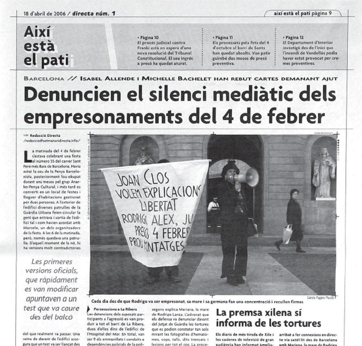 Abril del 2006: Número 1 de @la_Directa. Anit #CiutatMorta pulveritzà les audiències del 33. Tota victòria ve d lluny http://t.co/o2XQcb8eDE