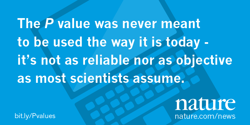 P values, the 'gold standard' of statistical validity. Or not... http://t.co/DnqZ0VDUzC http://t.co/DJbOXXTsr7