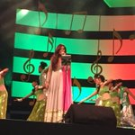 RT @ksinamdar: .@shreyaghoshal setting the stage on fire with her celestial voice at the Mirchi Marathi Awards. http://t.co/w9SWH0HErv