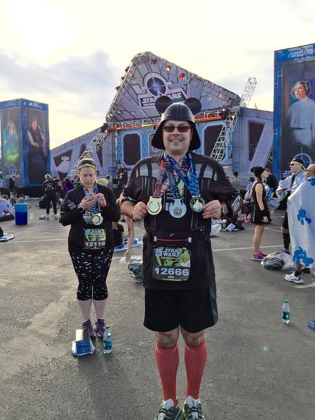 Finished the #runDisney #RebelChallenge #swwmmp #starwarshalf http://t.co/wXir43cPyq