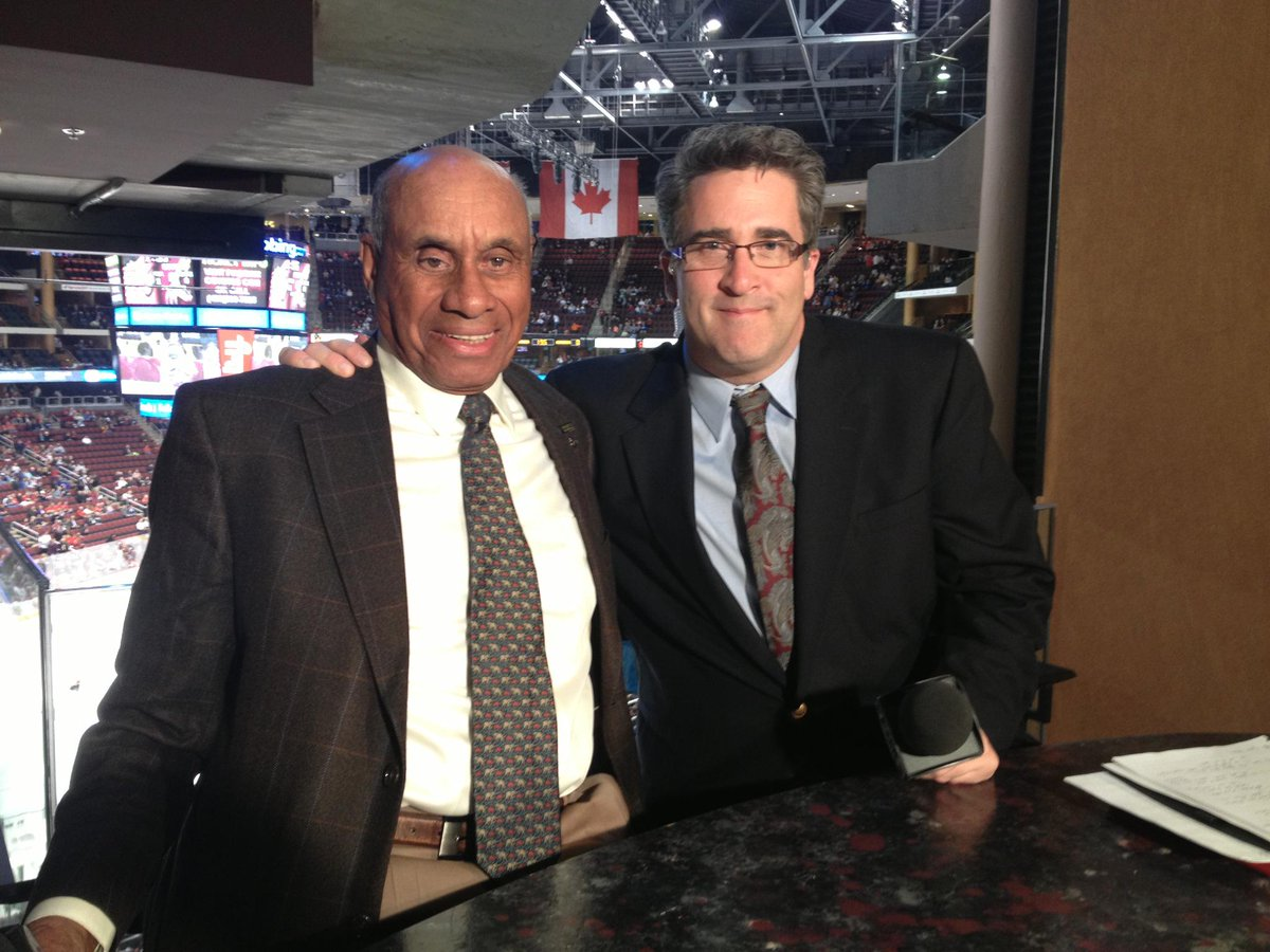 On this day, in '58, Willie O'Ree broke the NHL's color barrier. Great to have had him on #Coyotes Live. http://t.co/GBAD9hv4ZE