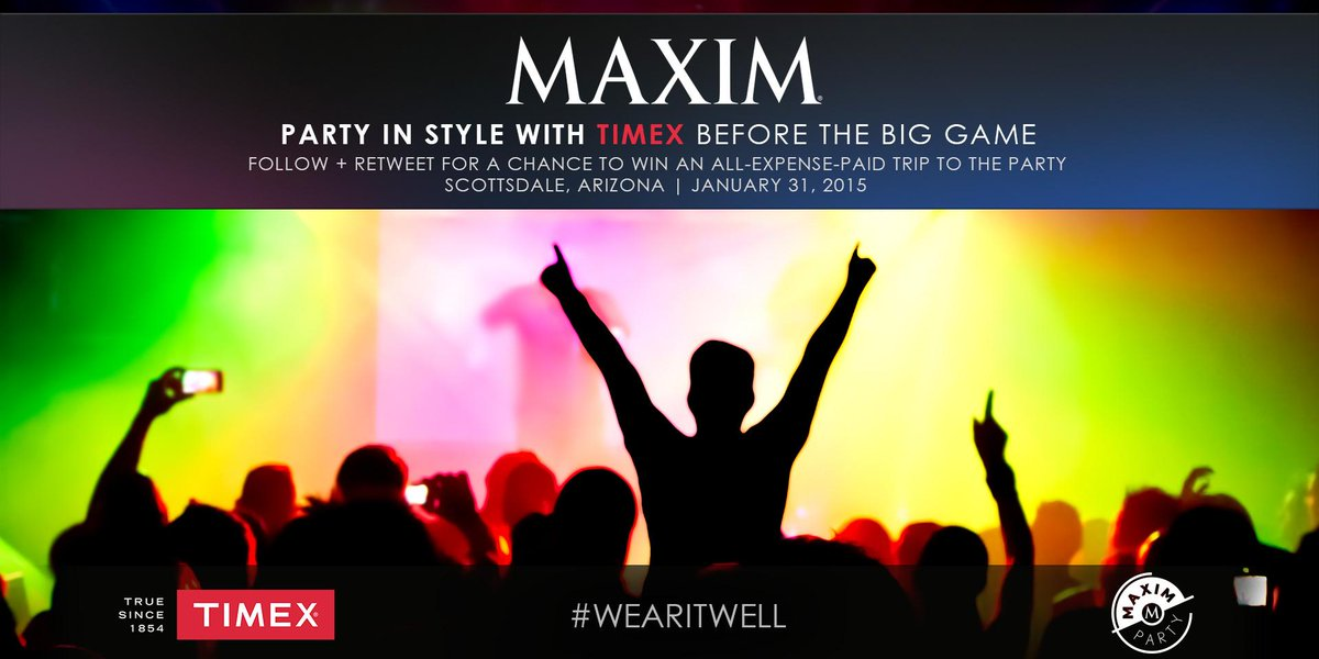 Party w/ us & @MaximMag. RT for a chance to win an all expenses paid trip to the #MaximParty. http://t.co/8AEpicbs0T http://t.co/0XH5wr55jp