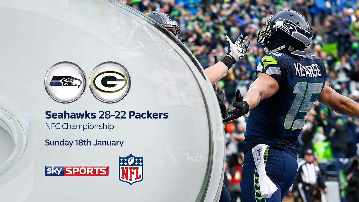 Unreal. One of the most incredible games you will EVER SEE! Your final score is Seahawks 28 - 22 Packers. #SkyNFL http://t.co/2r2rkAjKU4