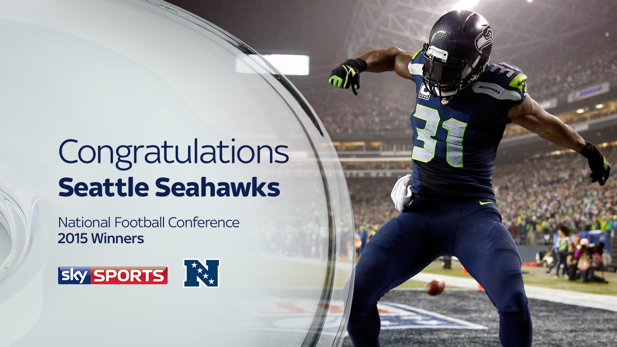 The Seattle Seahawks are the NFC Champions. #SkyNFL #GBvsSEA #SeahawksvsPackers http://t.co/bV63lhtDER