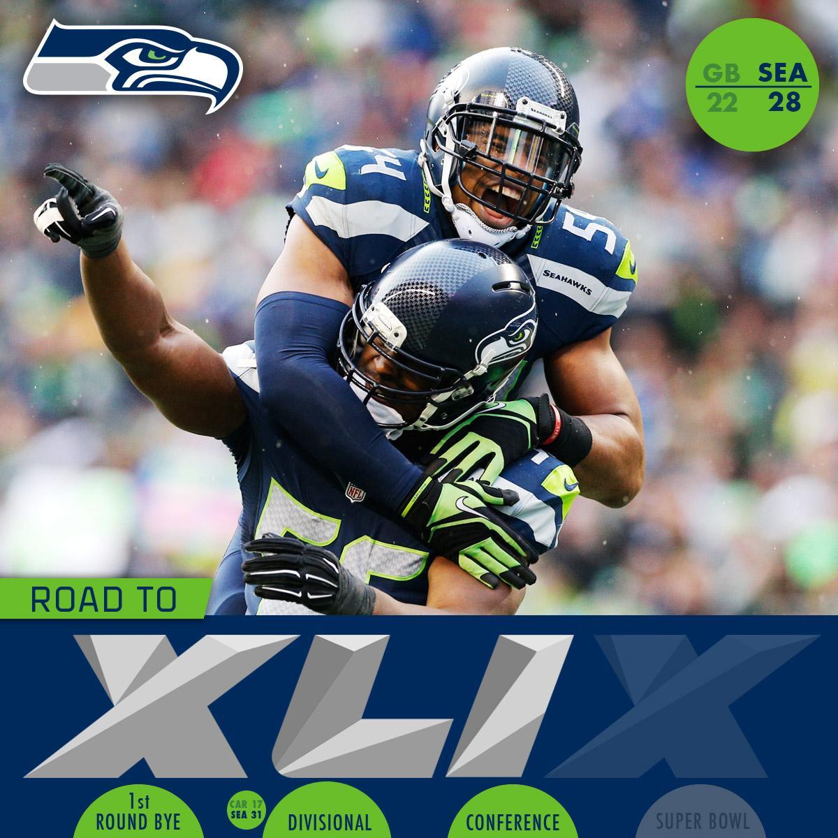 Next stop: Super Bowl XLIX! #SB49 http://t.co/0QBZLEL5L6