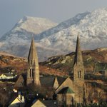 Connemara was looking great today,with the snow capped mountains.Clifden #Galway http://t.co/yLBEyPIa9l