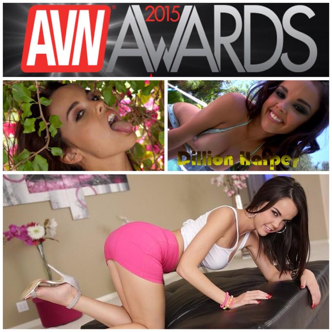 RT @Gowser93: Hey @avnawards that #FavoriteFemalePornstar award would look good in @DillionHarper 's