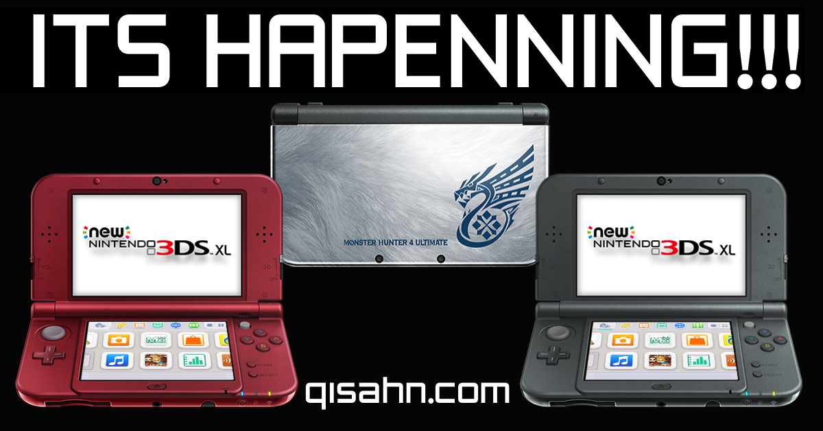 We have Black, Red and Monster Hunter New 3DS XL for preorder NOW!. http://t.co/YnAoj0IL67 + http://t.co/dIeKKpcvO4 http://t.co/yvWSGBbzSq