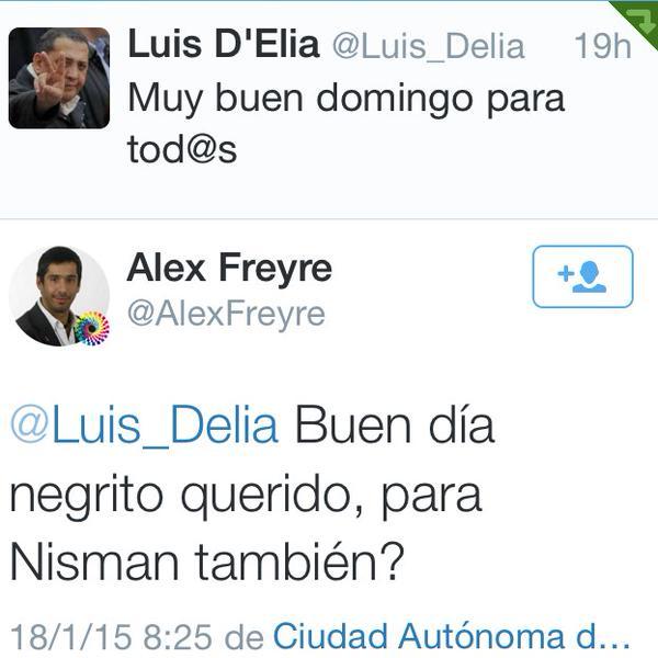Seria bueno que el PELOTUDO de @AlexFreyre explique que quiso decirle aca al MAFIOSO de @Luis_Delia  #Nisman http://t.co/NU74bwPZ6a