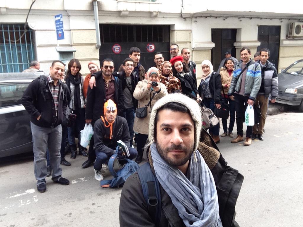 C'est le premier jour de notre formation @arablog_ merci @CFImedias et @inkyfada #émotion #bonnehumeur http://t.co/zA7RNTGOzu