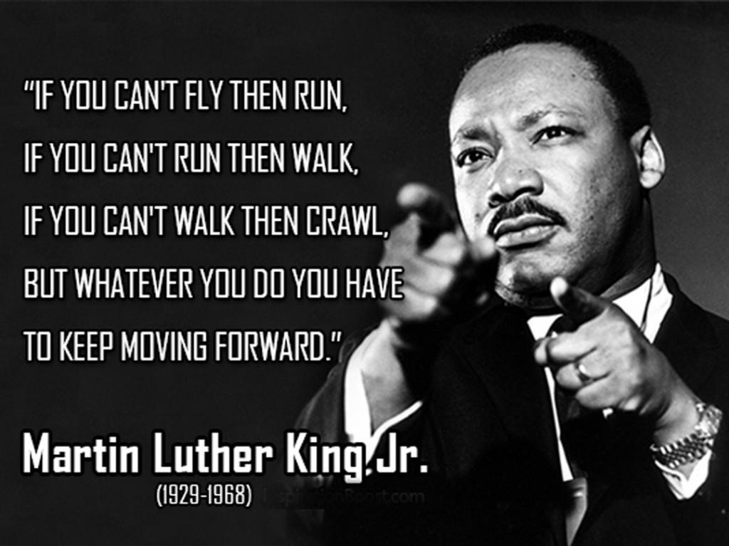 In honoring his legacy, especially today, may you be inspired to run, walk, crawl…keep moving forward #MLKday #yesyes http://t.co/QNENzfxZgj
